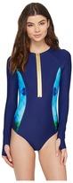 Roxy Pop Surf Long Sleeve One-Piece Swimsuit Women's Swimwear