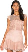 Karina Grimaldi Isabella Lace Top in Blush. - size L (also in M,S,XS)
