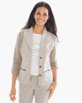 Chico's Woven Collection Mixed Fabric Jacket