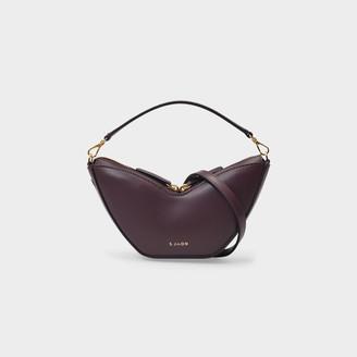 S.JOON Mini Tulip Bag In Burgundy Smooth Leather
