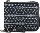 Diesel chain pattern zipped wallet - men - Cotton/Leather/Polyurethane - One Size