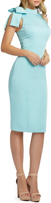 Mac Duggal Shoulder Bow Cocktail Dress