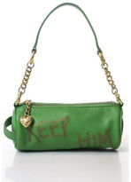 Juicy Couture Lime Green Leather Keep Him Detail Gold Tone Detail Small Handbag