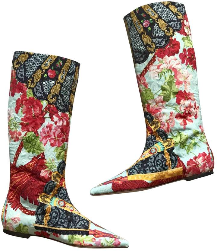 Dolce & Gabbana Cloth riding boots