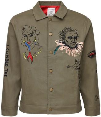 Kidsuper Studios Embroidered Cotton Denim Jacket