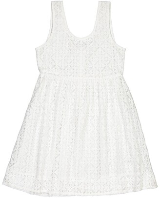 La Redoute Collections Sleeveless Lace Dress in Cotton Mix, 10-16 Years