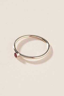 Maya Brenner 14K White Gold Birthstone Ring By in Beige Size 5