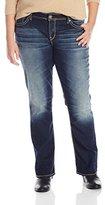 Silver Jeans Women's Plus-Size Suki Mid Slim Bootcut Jean