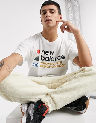 New Balance Athletics Trail t-shirt in white