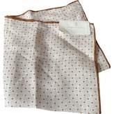 Brunello Cucinelli Beige Linen Scarves & pocket squares