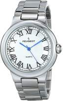Peugeot Women's Round Roman Numeral Link Bracelet Dress Watch 7086S