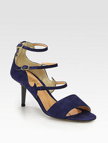 Aperlaï Lady Cat Suede Ankle Strap Sandals