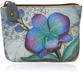 Anuschka Womens Coin Pouch | Genuine Leather | Floral Fantasy