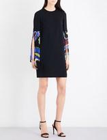 Emilio Pucci Paisley tassel crepe dress