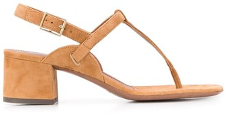 L'Autre Chose Buckled Chunky-Heel Sandals