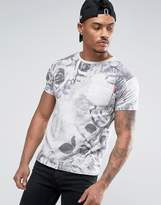 Soul Star Rose Printed Pocket T-Shirt