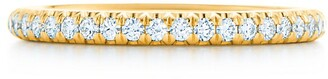 Tiffany & Co. Soleste band ring in 18k gold with diamonds