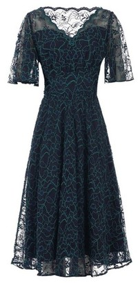 Dorothy Perkins Womens Jolie Moi Navy Lace Midi Dress
