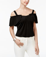 Thalia Sodi Ruffled Cold-Shoulder Bodysuit, Created for Macy's