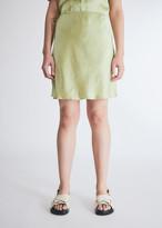 Nanushka Women's Gem Satin Mini Skrt Dress in Lime, Size Extra Small