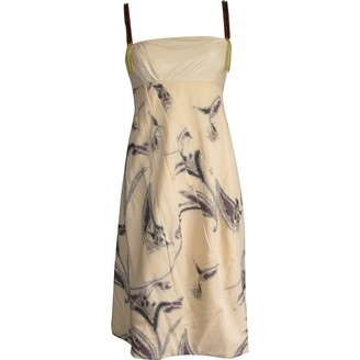 Marni Camel Cotton Dresses