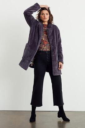 Maeve Lisanne Faux Fur Coat By in Grey Size XS