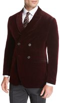 Giorgio Armani Velvet Double-Breasted Evening Jacket, Red
