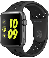 Apple Watch Nike+ 42mm Space Grey Aluminium Case with Nike Sport Band, Anthracite/Black