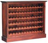 Kayu Estate Wine Racks and Cabinets Kamar Wide Wine Cabinet, CF Mahagony