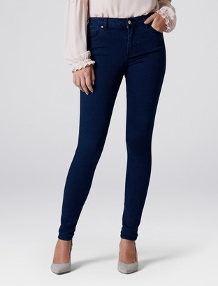 Forever New Ivy Mid Rise Full Length Skinny Jeans - Indigo Power Stretch - 4