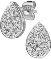 Naava Women's Diamond Pear 9 ct White Gold Earrings
