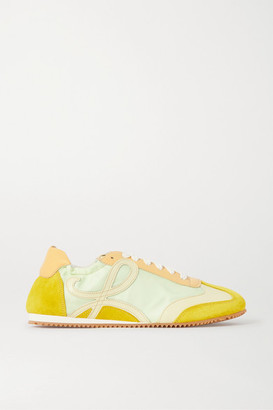 Loewe Suede And Leather Sneakers - Yellow