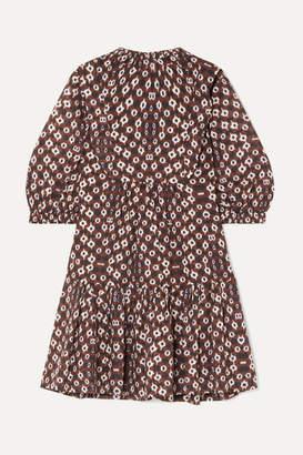 Sea Alha Tie-dyed Cotton-voile Mini Dress - Brown