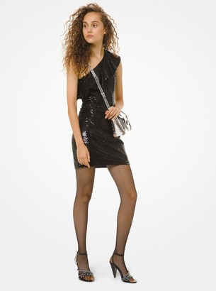MICHAEL Michael Kors One-Shoulder Sequined Dress