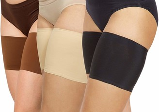 ANDIBEIQI 3 Pairs Thigh Bands Elastic Anti-Chafing Prevent Thigh Chafing and Rubbing Satin Lined Lace Thigh Bands