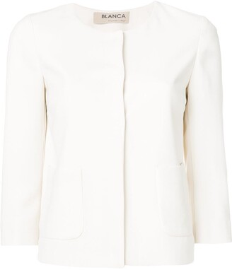 Blanca Vita Fitted 3/4 Sleeves Jacket