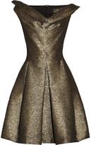 Vivienne Westwood Halton draped metallic jacquard dress