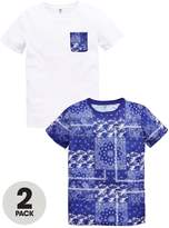 Very Boys Bandana and Pocket Print T-Shirts (2 Pack)