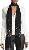 Cinq à Sept Clothing Pearl Capsule Aries Scarf, Black