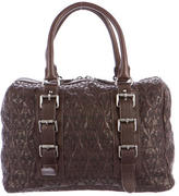 Thomas Wylde Skull-Embroidered Leather Handle Bag