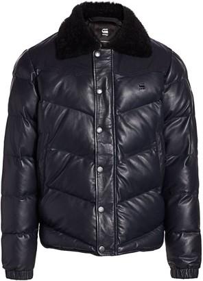 G Star Western Faux-Fur Collar Puffer Jacket