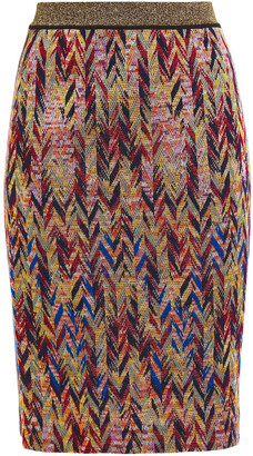 Missoni Metallic Crochet-knit Skirt