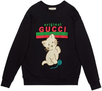 "Gucci ""Original sweatshirt with kitten"