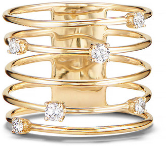 Lana 14k Gold Diamond Wire Crown Ring
