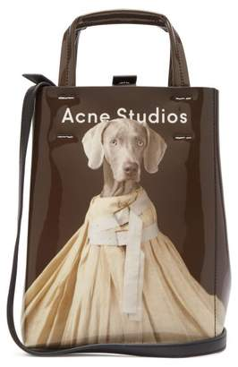 Acne Studios X William Wegman Baker Small Dog Print Tote Bag - Womens - Brown Multi