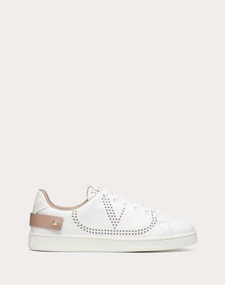 Valentino Backnet Calfskin Sneaker Women White/poudre Calfskin 100% 34