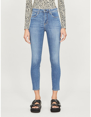 L'Agence Margot skinny high-rise stretch-denim jeans