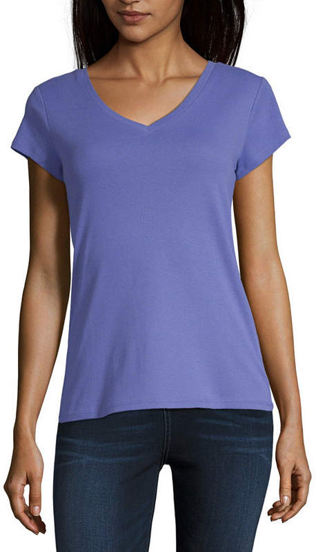 5ee35502fcab0 Liz Claiborne Purple Women s Tops - ShopStyle