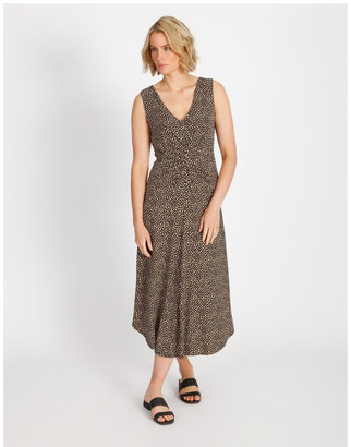 Basque Tuck Front Jersey Dress