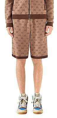 Gucci Men's GG Wool-Cotton Jacquard Knit Shorts